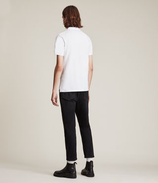 Mens Reform Polo Shirt (Optic White) - product_image_alt_text_4