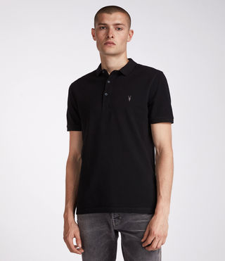 Mens Reform Polo Shirt (Jet Black) - product_image_alt_text_1