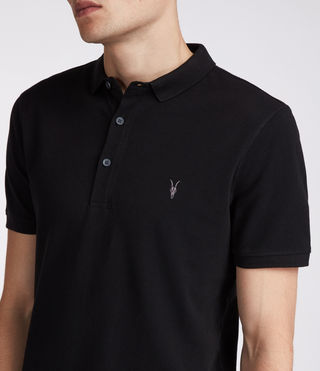 Mens Reform Polo Shirt (Jet Black) - Image 2