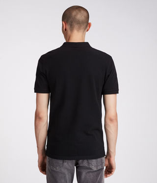 Mens Reform Polo Shirt (Jet Black) - Image 4
