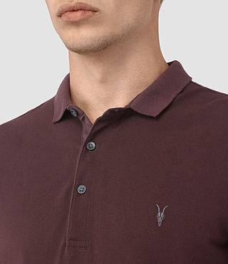 Uomo Reform Polo Shirt (Damson Red) - product_image_alt_text_2