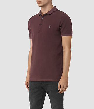 Uomo Reform Polo Shirt (Damson Red) - product_image_alt_text_3