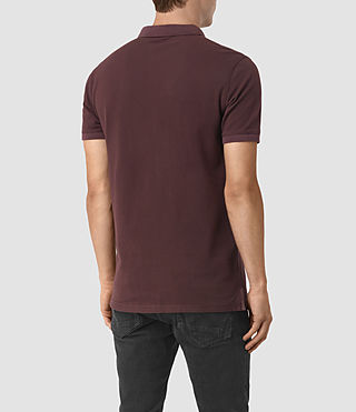 Uomo Reform Polo Shirt (Damson Red) - product_image_alt_text_4