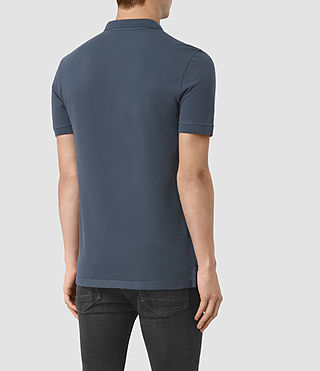Hombres Polo Reform (LEAD BLUE) - product_image_alt_text_3