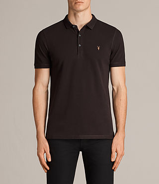 Hommes Reform Polo Shirt (AUBERGINE RED) - Image 1
