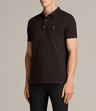 Hommes Reform Polo Shirt (AUBERGINE RED) - Image 3