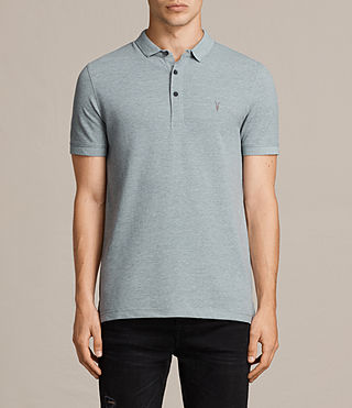 Mens  Reform Polo Shirt (CHROME BLUE MARL) - product_image_alt_text_1