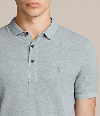 Hombres Reform Polo Shirt (CHROME BLUE MARL) - Image 2
