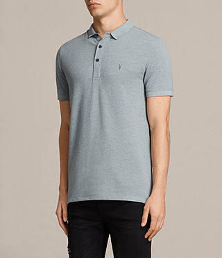 Mens  Reform Polo Shirt (CHROME BLUE MARL) - product_image_alt_text_3