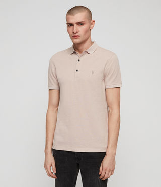 Men's Reform Polo Shirt (MUSHROOM PINK MARL) -