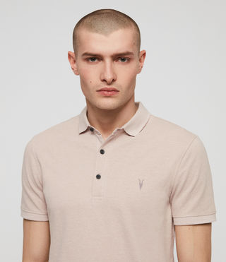 Men's Reform Polo Shirt (MUSHROOM PINK MARL) - product_image_alt_text_2