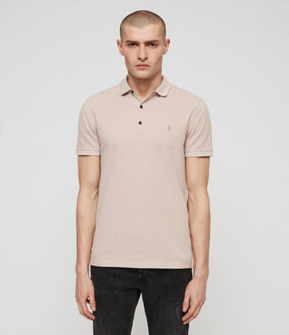 Men's Reform Polo Shirt (MUSHROOM PINK MARL) - product_image_alt_text_4