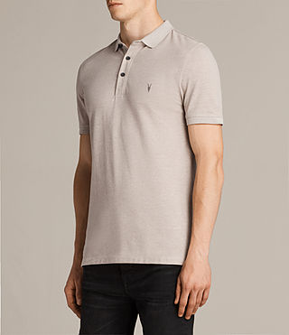 Hombre Reform Polo Shirt (SHALE BROWN MARL) - Image 3