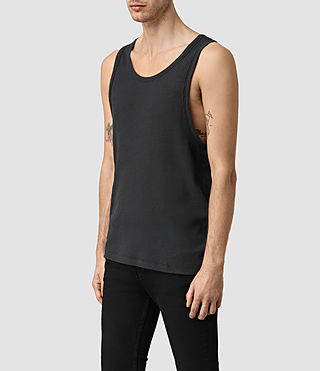 Mens Doubt Tank (Washed Black) - product_image_alt_text_2