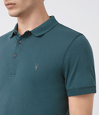 Hombres Alter Polo Shirt (Airforce Blue) - product_image_alt_text_2