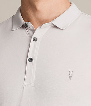 Mens Alter Polo Shirt (Marble Grey) - product_image_alt_text_2