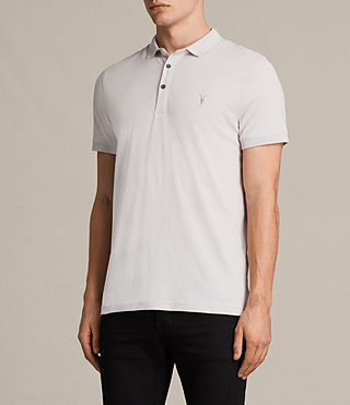 Mens Alter Polo Shirt (Marble Grey) - product_image_alt_text_3