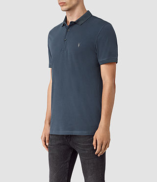 Hommes Alter Polo Shirt (Workers Blue) - product_image_alt_text_2