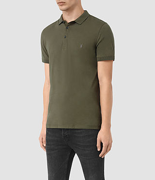 Hommes Alter Polo Shirt (MOSS GREEN) - product_image_alt_text_2