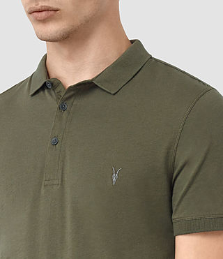 Hommes Alter Polo Shirt (MOSS GREEN) - product_image_alt_text_3