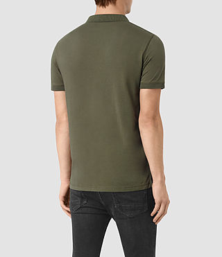 Hommes Alter Polo Shirt (MOSS GREEN) - product_image_alt_text_4