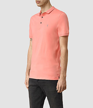 Men's Alter Polo Shirt (ROSETTE PINK) - product_image_alt_text_3