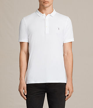 Mens Alter Polo Shirt (Optic White) - product_image_alt_text_1