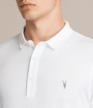 Mens Alter Polo Shirt (Optic White) - product_image_alt_text_2