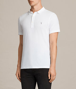 Mens Alter Polo Shirt (Optic White) - product_image_alt_text_3