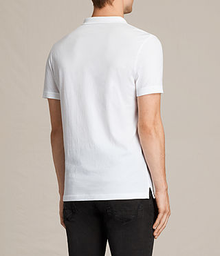 Mens Alter Polo Shirt (Optic White) - product_image_alt_text_4