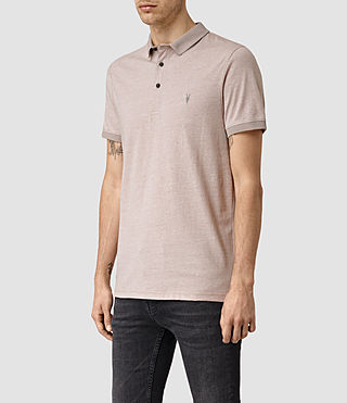 Hommes Alter Polo Shirt (Sphinx Pink Marl) - product_image_alt_text_2