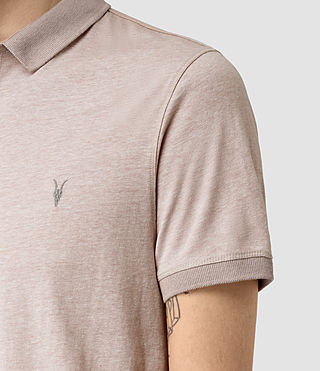 Uomo Alter Polo Shirt (Sphinx Pink Marl) - product_image_alt_text_4