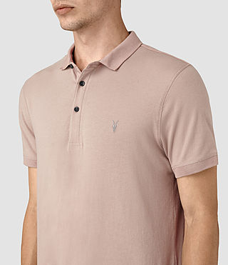 Men's Alter Polo Shirt (FIG PINK) - product_image_alt_text_2