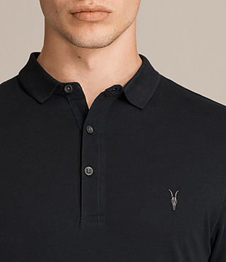 Hommes Alter Polo Shirt (Jet Black) - product_image_alt_text_2