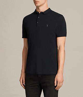 Hombres Alter Polo Shirt (Jet Black) - product_image_alt_text_3
