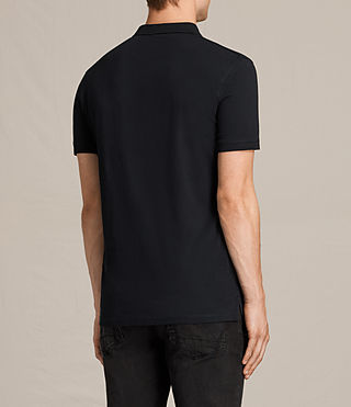 Hombres Alter Polo Shirt (Jet Black) - product_image_alt_text_4