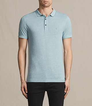 Mens Alter Polo Shirt (AZURE BLUE MARL) - product_image_alt_text_1