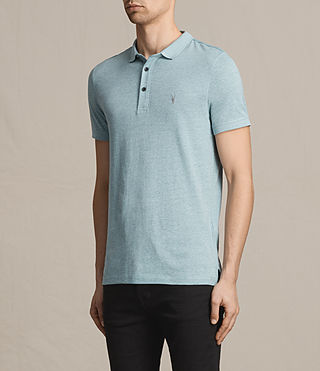 Hommes Alter Polo Shirt (AZURE BLUE MARL) - product_image_alt_text_2
