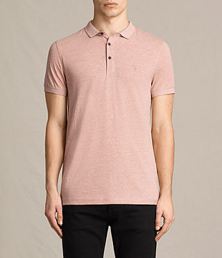 Mens Alter Polo Shirt (CINNAMON RED MARL) - product_image_alt_text_1