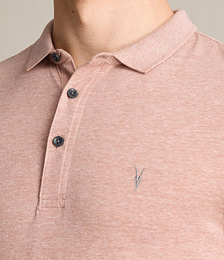 Hombres Alter Polo Shirt (CINNAMON RED MARL) - product_image_alt_text_2