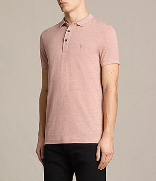 Hombres Alter Polo Shirt (CINNAMON RED MARL) - product_image_alt_text_3