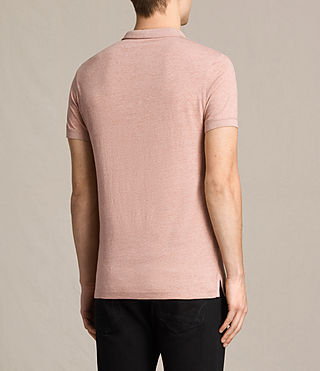 Hombres Alter Polo Shirt (CINNAMON RED MARL) - product_image_alt_text_4