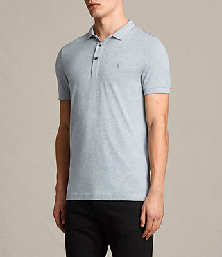 Hommes Alter Polo Shirt (STORM BLUE MARL) - product_image_alt_text_3