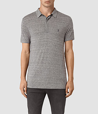 Hombres Meter Tonic Polo Shirt (Charcoal Mouline)
