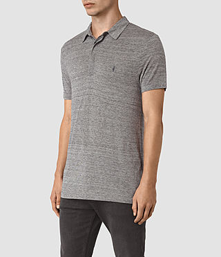 Herren Meter Tonic Polo Shirt (Charcoal Mouline) - product_image_alt_text_2