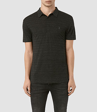 Mens Meter Tonic Polo Shirt (Cinder Black Marl) - product_image_alt_text_1