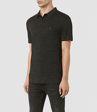 Mens Meter Tonic Polo Shirt (Cinder Black Marl) - product_image_alt_text_3