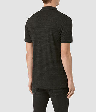 Hommes Meter Tonic Polo (Cinder Black Marl) - product_image_alt_text_4