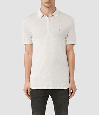 Hombres Polo Meter Tonic (Light Grey Marl)
