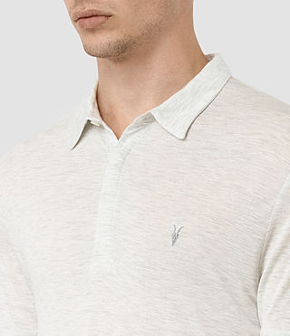Hombre Meter Tonic Polo (Light Grey Marl) - product_image_alt_text_2